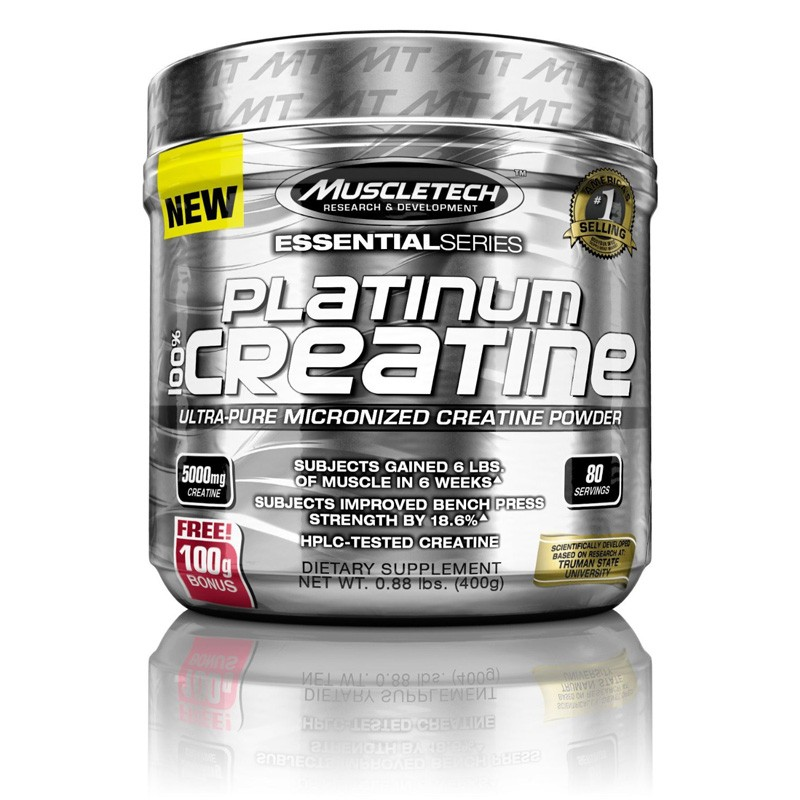 MuscleTech 400mg Platinum Micronized Creatine Supplement