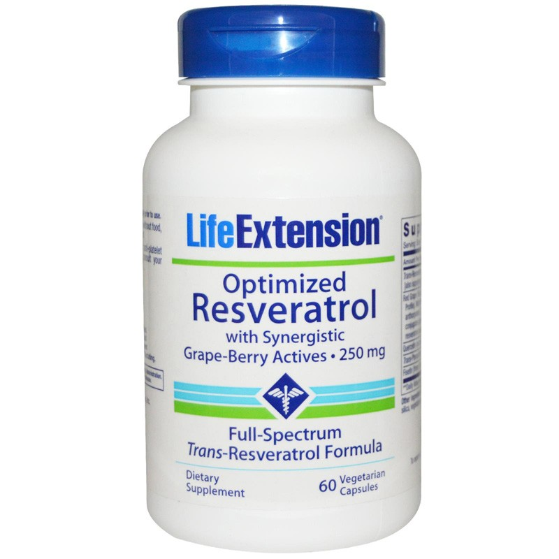 Life Extension Resveratrol with Synergistic Grape-berry Actives