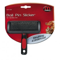 Mikki Grooming Ball Pin Slicker, Soft Grip Handle, Small