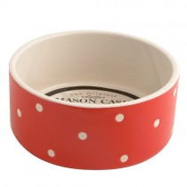 Mason Cash Polka Dot Red Dog Bowl, 180mm