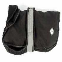 The Ultimate 2 in 1 Dog Coat w/ Reflective Band Black 25-10cm
