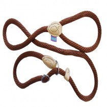 Dog and Co Rope Slip Dog Lead, 150 x 1.4 cm/ 60-inch x 5/8-inch, Brown