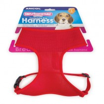 Simply Comfy Comfortable Mesh Dog Harness, L, Red
