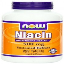 Now Foods Niacin, 100 Caps, 500 Mg