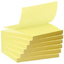 Post-It Recycled Z-Notes Tower Pack, 6 Pads Per Pack, 76mm X 76mm