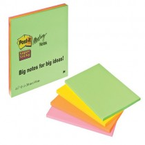 Post-It Super Sticky Meeting Notes - Neon Colours