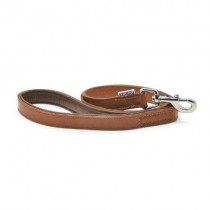 Vintage Leather Padded Lead Chestnut 22mm X 100cm