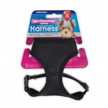 Simply Comfy Comfortable Mesh Dog Harness, XS, Black
