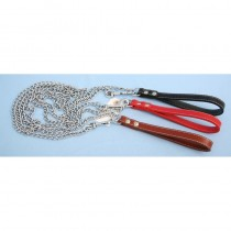 "Heritage Padded Chain Lead Red 90cm/36"" Sz 4-8"