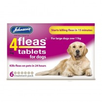 4Fleas Dog Tablets, Large, 57 Mg, 6 Tablets