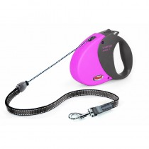Flexi Comfort Long Lead, Size 1, Up to 12 Kg, Pink