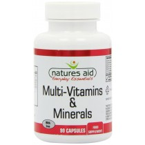 Natures Aid Multivit and Mineral with Iron 90 Tablets