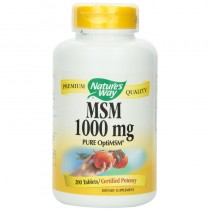 Nature`s Way, Msm (Pure Optimsm) 1000mg, 200 VCapsules