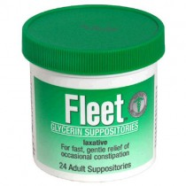 Fleet, Glycerin Laxative Suppositories (Adult) 24 Suppositories