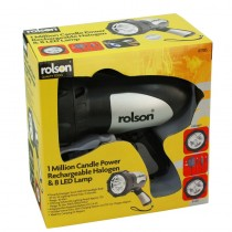 Rolson 61785 Rechargeable Halogen Spotlight And 8 LED Lamp