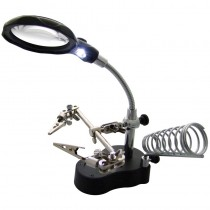 Am-Tech Helping Hand Magnifier LED Light with Soldering Stand
