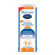 Biocare 60g Children's Strawberry Bio Acidophilus Powder