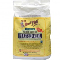 Organic Whole Ground Flaxseed Meal, Gluten Free, 32 oz (2 lb) 907 g