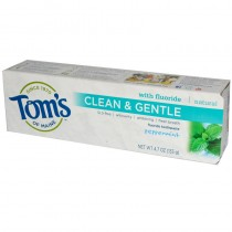 Clean & Gentle, Fluoride Toothpaste, Peppermint, 4.7 oz (133 g)