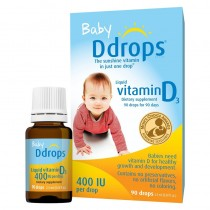 Ddrops Baby Liquid Vitamin D3 (400iu Per Drop, 90 Drops)
