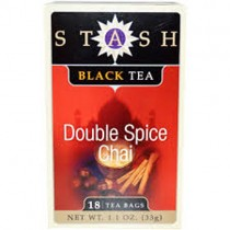 Premium, Double Spice Chai Black Tea, 18 Tea Bags, 1.1 oz (33 g)