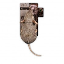 All For Paws Rat Dog Toy with Squeaker, 9-inch/ 23cm