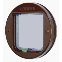 Cat Mate Glass Fitting Cat Flap - Brown