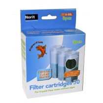 Superfish Aqua-Flow 50 Filter Easy Click Cartridge x 3 150g