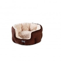 Do Not Disturb Luxury Oval Cat Bed, Chocolate