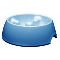 Dogit Go-Slow Anti-Gulp Dog Bowl, Large, 1.2 Litre, Blue