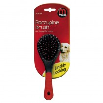 Mikki Grooming Porcupine Brush for Double/ Thick Coats, Small