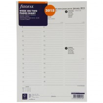 Filofax A4 Week 5 Language Column Format Appointments Diary 2015
