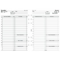 Filofax A5 Business Day Per Page Appointments English Diary for 2015