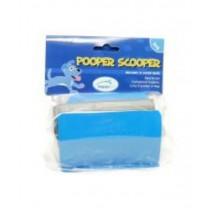 Blue Pooper Scooper with 10 Bags