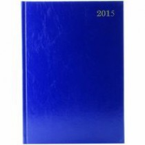 Q Connect Condiary A4 2 Page per Day Diary for 2015 - Blue