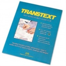 West Design Transtext Self-adhesive Film 25 Sheets Clear A4 Ref 244110