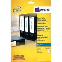 Avery Filing Labels Inkjet Lever Arch 200x60mm [100 Labels]