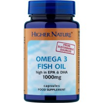 Higher Nature Fish Oil Omega 3 - 180 Capsules