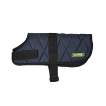 Go Walk Quilted Dog Coat, Medium, Navy