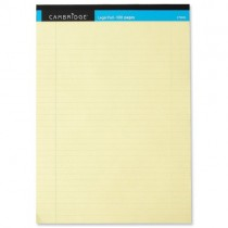 Cambridge Legal Pad Perforated Tear-Off Feint Ruled A4 Yellow