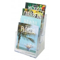 Deflecto Multi-Tier Literature Display Holder 4 X A5 Clear