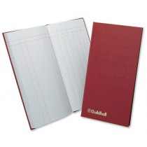 Guildhall Petty Cash Book Ruled 298x152mm Red