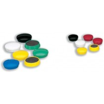 5 Star Round Plastic Covered Magnets 30mm Assorted