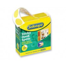 Sellotape Sticky Hook Spots In Handy Dispenser Yellow