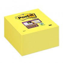 Post-it Super Sticky Note Cube Pad 76x76mm Yellow