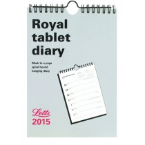 Letts Weekly Royal Tablet Calendar for 2015
