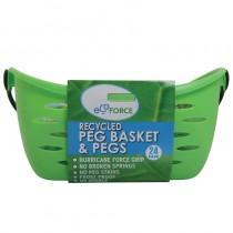 Ecoforce Recycled Peg Basket with 24 Pegs